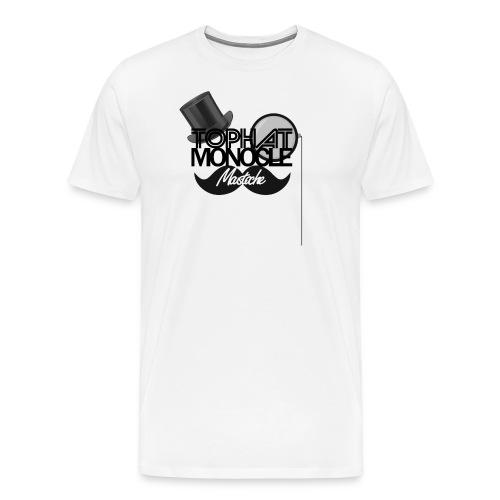 TopHat Monocle Moustache - Men's Premium T-Shirt