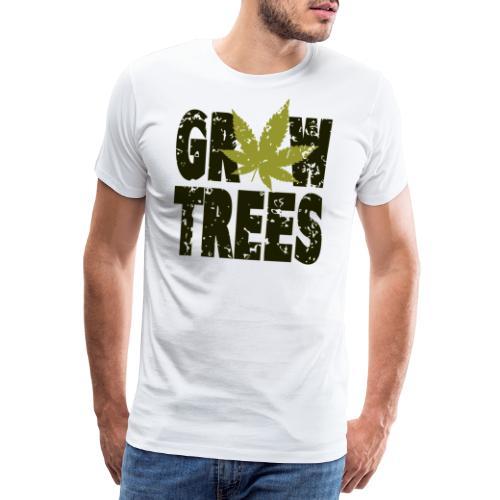 Grow Weed Trees Cannabis - Vintage - Männer Premium T-Shirt