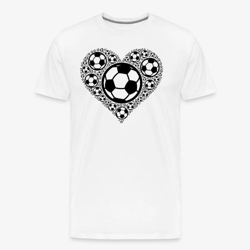 Fußballer Herz | Geschenkidee für Fußballspieler - Männer Premium T-Shirt