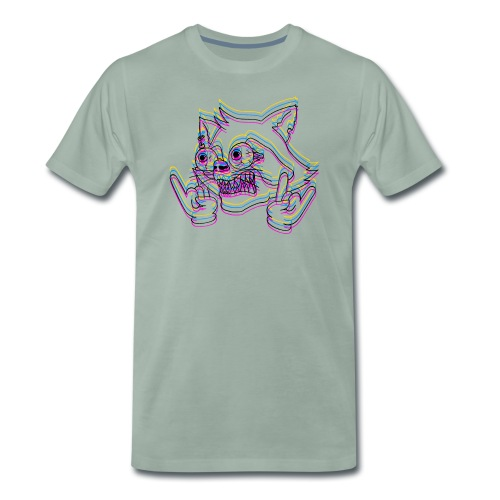 crazyraccoon_black - Männer Premium T-Shirt