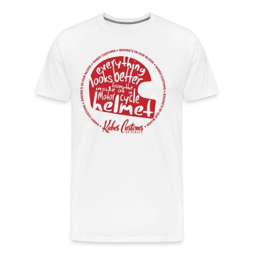 kabes-inside-a-helmet - Men's Premium T-Shirt