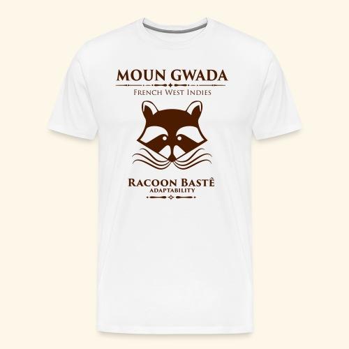 Moun Gwada-Rracoon bastê - T-shirt Premium Homme