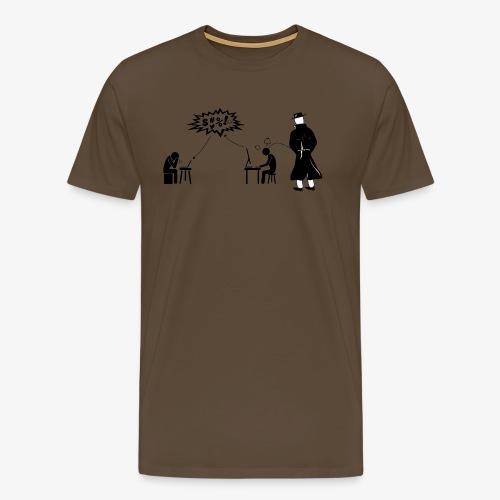 Pissing Man against hate postings - Männer Premium T-Shirt