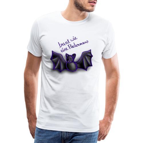 bunt wie eine Fledermaus - Männer Premium T-Shirt
