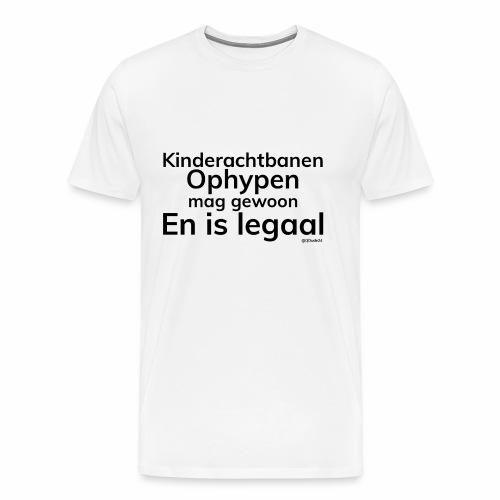 Kinderachtbanen ophypen - Mannen Premium T-shirt