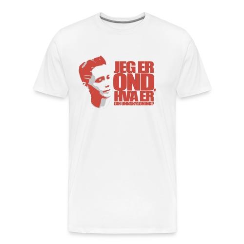 BEOP - OND Original design LYS - Premium T-skjorte for menn