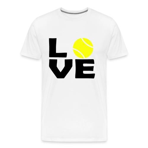 Liebe Tennis Tennisspieler Tennisball Tennisplatz - Männer Premium T-Shirt