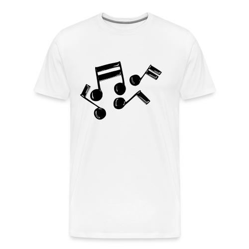 Musik Symbol Noten Musiker Musikerin spielen - Männer Premium T-Shirt