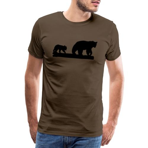 Bären Bär Grizzly Wildnis Natur Raubtier - Männer Premium T-Shirt
