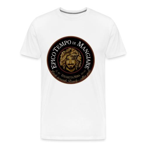 Epico Tempo di Mangiare Etichetta Nera - Maglietta Premium da uomo