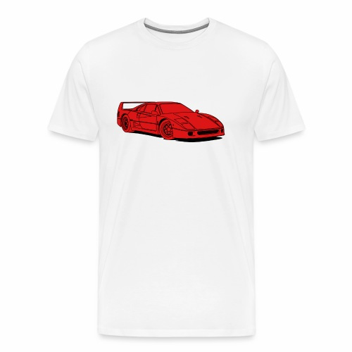 f40 red - Men's Premium T-Shirt