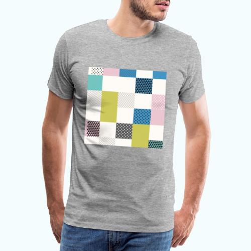Abstract art squares - Men's Premium T-Shirt
