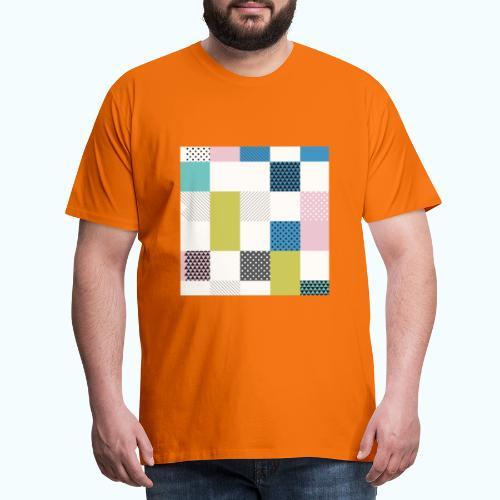Abstract art squares - Men's Premium T-Shirt