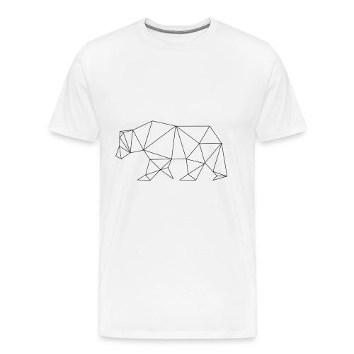 Ours Polygonale - T-shirt Premium Homme