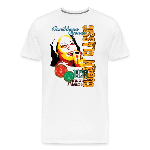 Caribbean Cigar Lady - Männer Premium T-Shirt