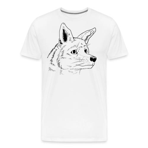 Strichzeichnung Fuchs - Männer Premium T-Shirt