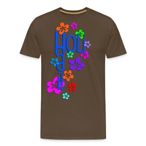 HOLI HAI FLOWERS 1 - Männer Premium T-Shirt