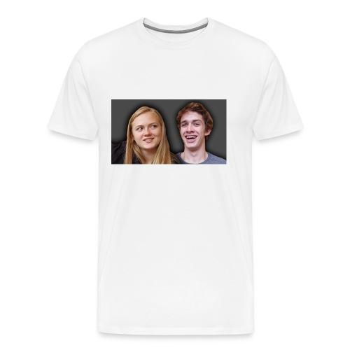 Profil billede beska ret - Herre premium T-shirt