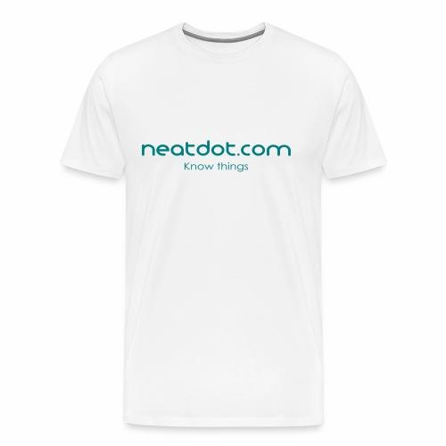 Logo Full slogan - Men's Premium T-Shirt