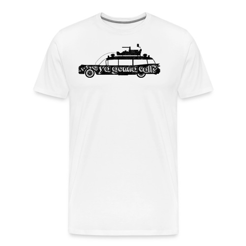 ghostbuster car png - Men's Premium T-Shirt