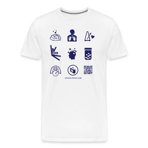 teeA3iconesBleu 01 png - T-shirt Premium Homme