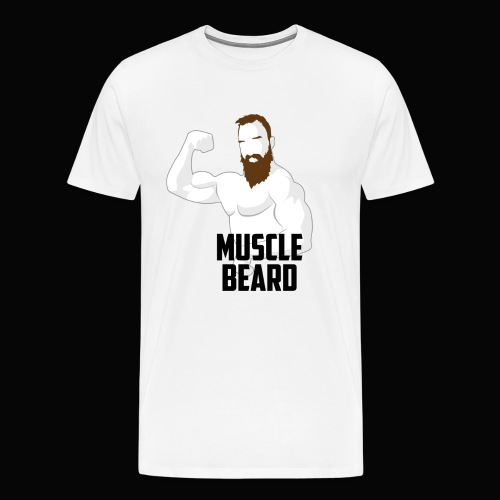 Muscle beard pose vest - Men's Premium T-Shirt
