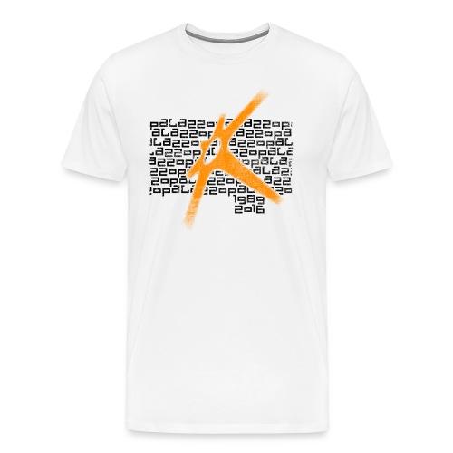 Palazzo Textblock auf weiss/on white - Männer Premium T-Shirt