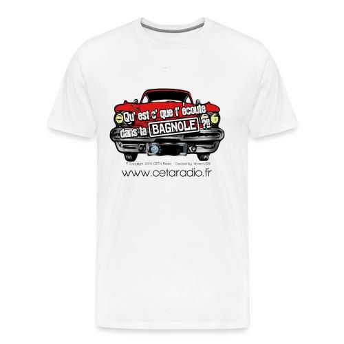 Logo QEDB CETA Radio - T-shirt Premium Homme