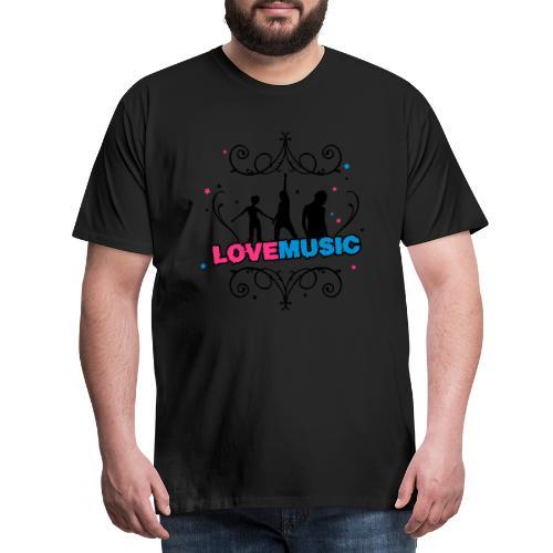 Motif Love Music - T-shirt Premium Homme
