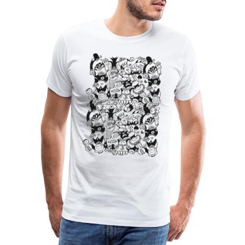 Monsters panic for star - Men's Premium T-Shirt
