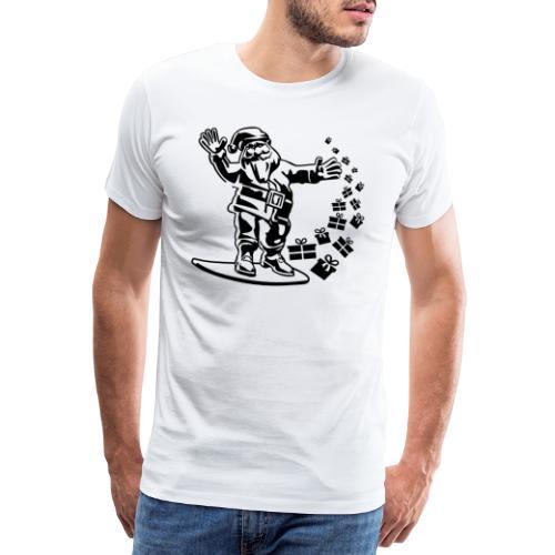 LUSTIGER WEIHNACHTSMANN, SNOWBOARDER, T-SHIRT - Männer Premium T-Shirt