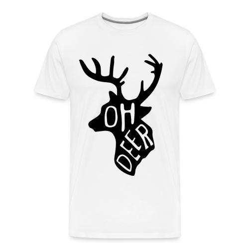 OHDEERBIGPNG png - Mannen Premium T-shirt