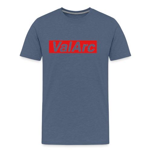 ValArc Text Merch Red Background - T-shirt Premium Homme