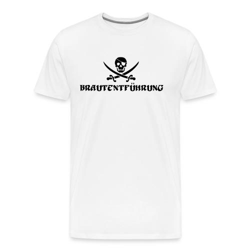 Brautentführung Piratenflagge Junggesellinnen - Männer Premium T-Shirt