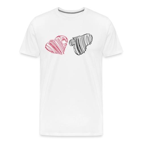 Hjertepuslespill - Premium T-skjorte for menn