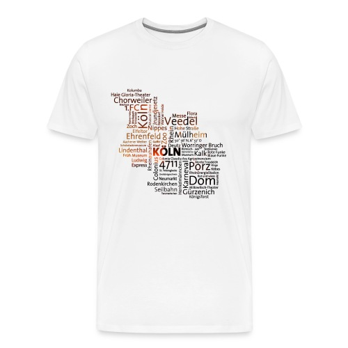 cloud koeln - Männer Premium T-Shirt