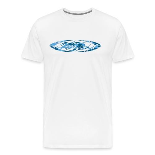 2wear original logo cammo blue - Herre premium T-shirt