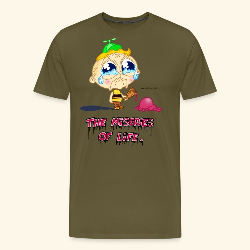 The Miseries of Life Eiscreme Eis Kind - Männer Premium T-Shirt