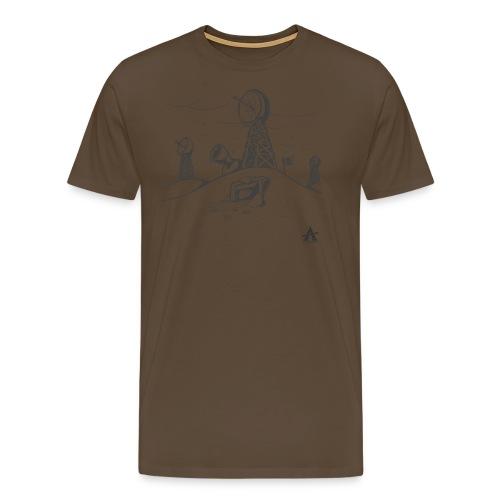 ligne de base arctique croquis - T-shirt Premium Homme