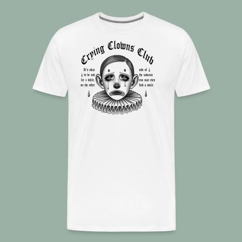 Crying Clowns Club - Black text - Herre premium T-shirt