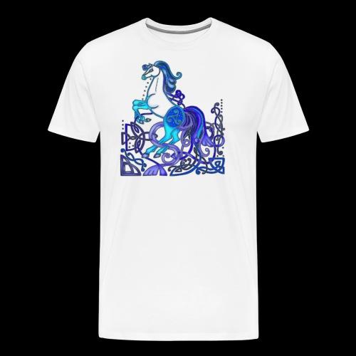 Celtic Horse Silver Blue - Men's Premium T-Shirt