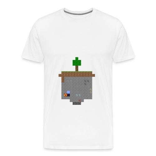 Minecraft World Querschnitt - Männer Premium T-Shirt