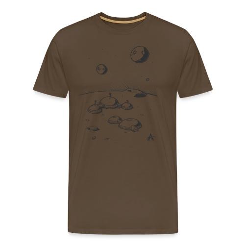 Moonbase Sketch ligne - T-shirt Premium Homme