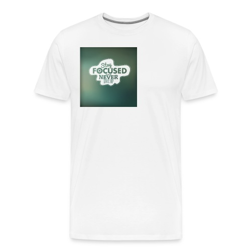 NEVER GIVE UP! - Herre premium T-shirt