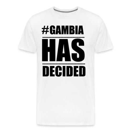 GAMBIA_HAS_DECIDED - Men's Premium T-Shirt