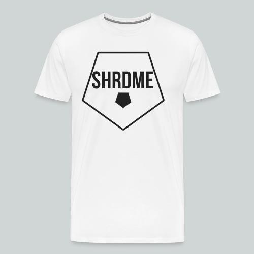 SHRDME Logo Weiß png - Männer Premium T-Shirt
