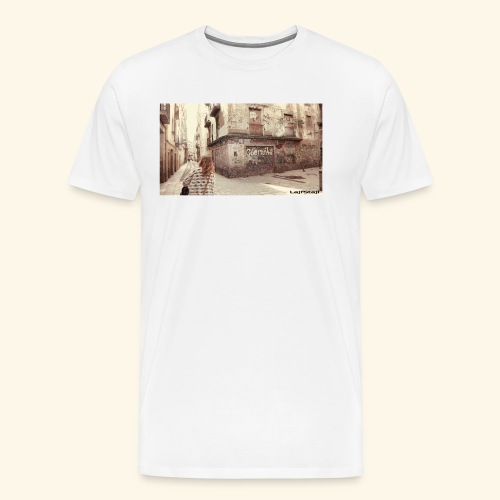 Walking the street - Premium-T-shirt herr