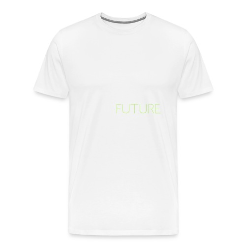 T-Shirt Shutter with Logo Text white and green - Premium-T-shirt herr
