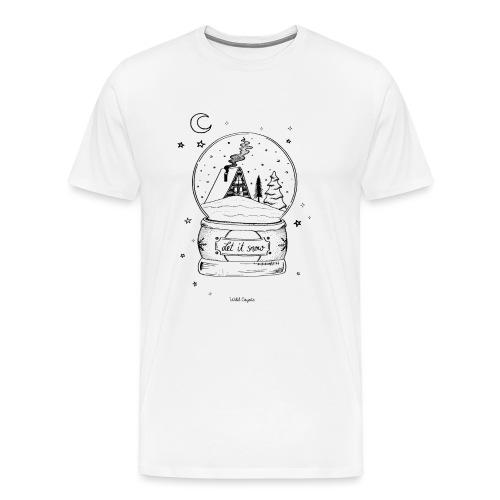 Winter Schnee Bild Kinder Liebe Weihnachten Hütte - Männer Premium T-Shirt