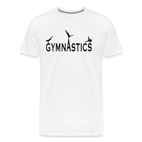 Male Gymnastics With Black Silhouttes - Men's Premium T-Shirt